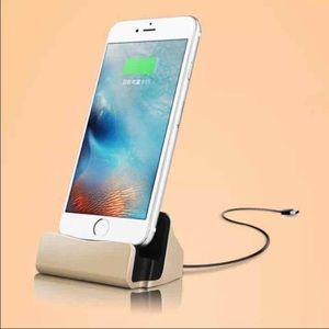 Accessories - Gold iPhone Charging Dock
