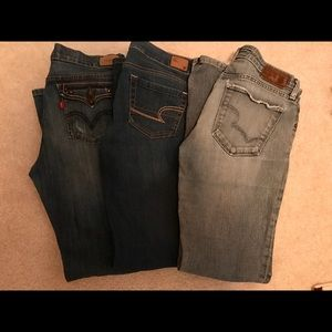 Denim - Lot of 3 jeans size 8