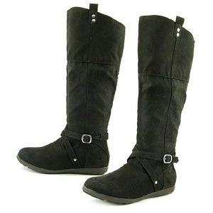 Rampage Shoes - Rampage Faux Suede Knee High Boots NWOB