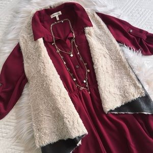 Monteau Dresses & Skirts - BURGUNDY DRESS