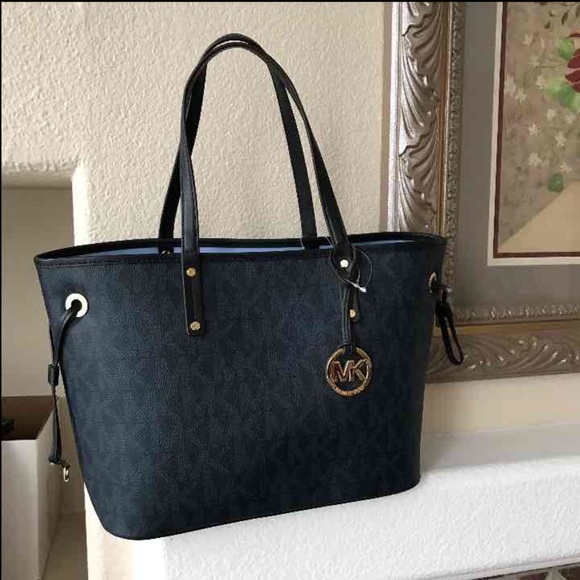 Shoulder Bag for Women On Sale, Navy Blue, Leather, 2017, one size Michael Kors
