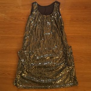 Sequence shift dress w/pockets