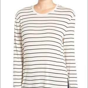 bp Tops - BP. Stripe Long Sleeve Crewneck Tee