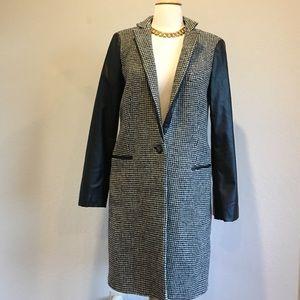 Zara faux leather sleeve coat.
