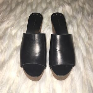 Zara Shoes - Zara Leather Toeless Mules