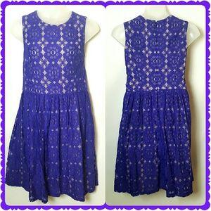 Ivy + Blue Dresses & Skirts - Ivy + Blu Anthropoligie Blue Lace Dress Size 16