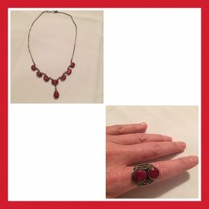 Jewelry - Ruby Necklace and Ring