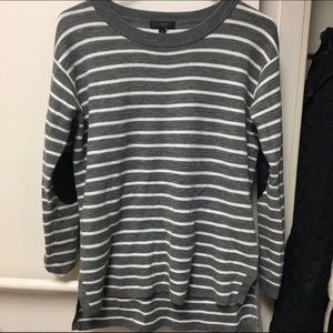 J. Crew Striped Sweater Elbow Patches
