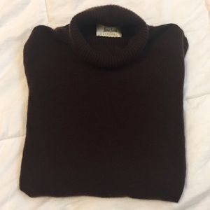 Neiman Marcus Sweaters - Nieman Marcus Cashmere chocolate brown turtleneck