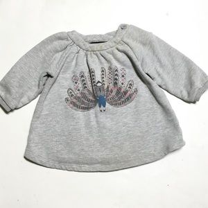 Little Marc Jacobs Other - Little Marc Jacobs Gray Peacock Sweatshirt Dress