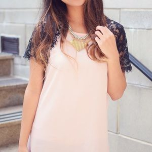 Dresses & Skirts - Pink Lace Dress