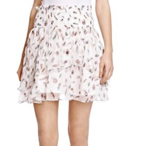 c356ce37ed5 The Kooples white feather skirt silk Sz xs. M_587c1f2af0137d396e02a6a0