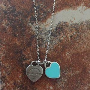 Tiffany & Co. Jewelry - Mini Double Heart Tag Tiffany Necklace