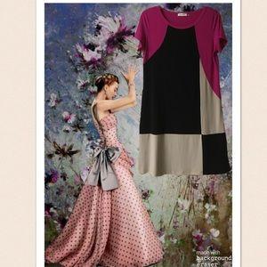 Calvin Klein Color Block Shift Dress