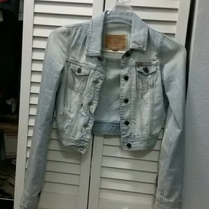 Hollister Jackets & Blazers - HOLLISTER Denim Jacket Frayed Ripped