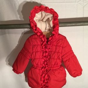Pink Platinum Other - Baby girls warm coat red