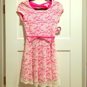 Candie's lace overlay dress