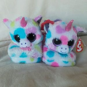 Ty Shoes - NWT Ty Unicorn slippers girls size S 13/1