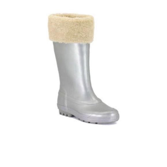 eaeb00b002b Ugg Millcreek Grey Silver Rubber Wellies Boots 5