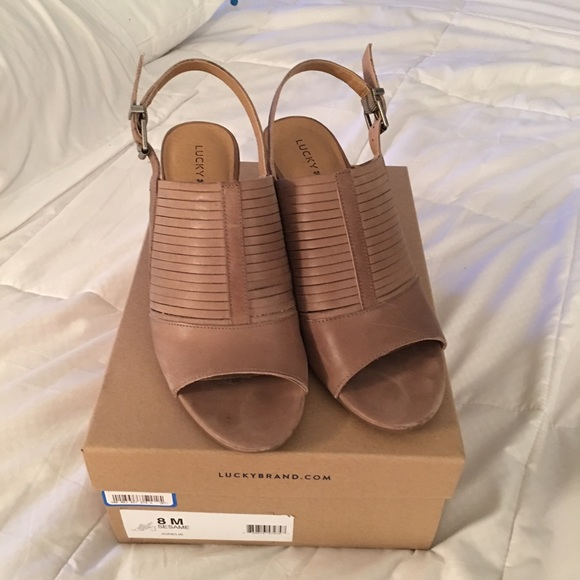 cd2cb9b49 Lucky Brand Shoes - Lucky Brand Jorelie Women Tan Slingback Sandal