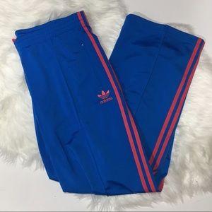 Adidas Pants - Adidas free bird blue pink track pant