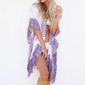 New Lavendar Mandala Gypsy Kimono
