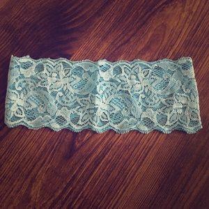 10/$20 SALE Light Blue Lace Stretch Headband