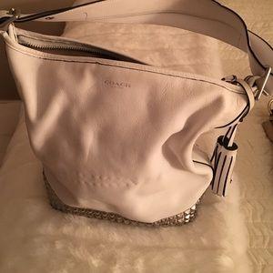 Coach Handbags - Coach white studded bag