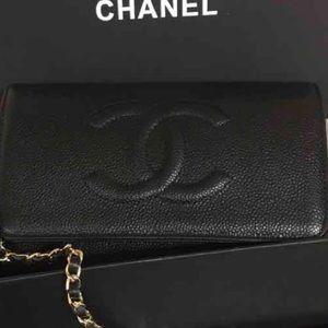 Chanel WOC black Caviar