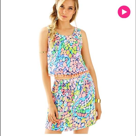 1988c4ae2 Lilly Pulitzer Dresses | Brinley Crop Top Skirt Set | Poshmark