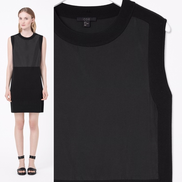 0042887951 cos Dresses   Skirts - COS Black Work Dress with Contrast Panel