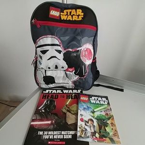 Lego Handbags - ⬇⬇ Lego star wars Bundle kids backpack NWOT/ Books