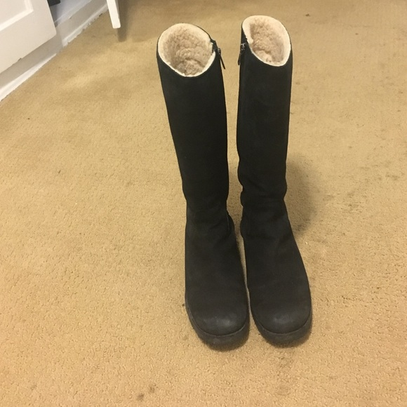 UGG Shoes   Ugg Tall Black Suede Boots