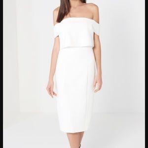 White Bardot Lavish Alice dress