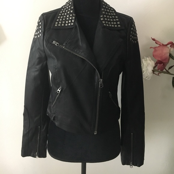892957f2e TOPSHOP faux leather studded jacket