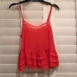 Lush Tops - Coral Crop top