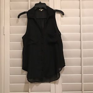Lily White Tops - Black blouse