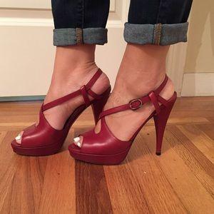 Valentino Shoes - Valentino Red Platform Heels