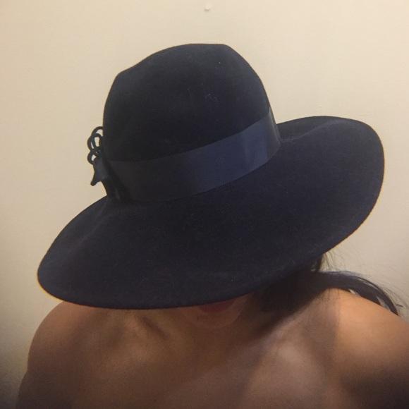 Vintage Navy Blue Wool Wide Brim Hat. M 587c46126d64bc20e4037def e9f7499d5b1