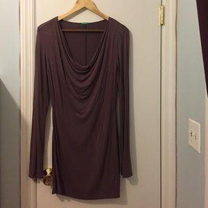 Classy lavender Benetton shirt dress