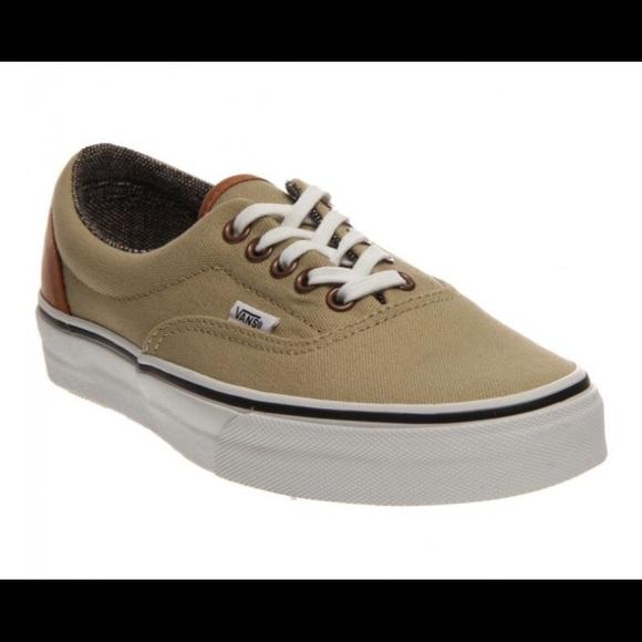 Vans Shoes | Men Era In Beige | Poshmark