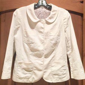 "Boden Jackets & Blazers - 22"" Cropped Linen Jacket"