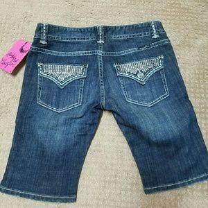 Rock & Roll Cowgirl Denim - Rock & Roll cowgirl boy shorts