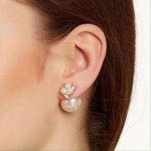 T&J Designs Faux Pearl Double Sided Earrings