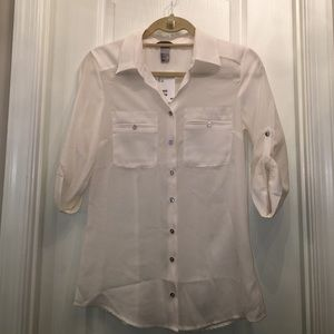 H&M cream blouse - size 4 NWT