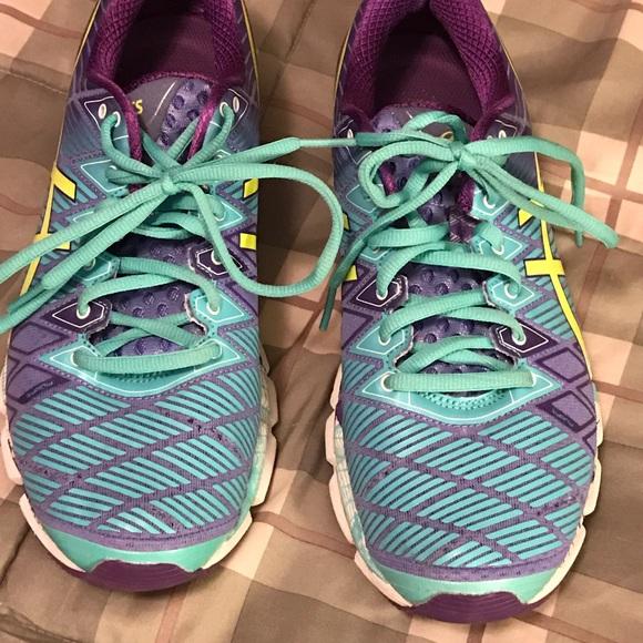 acheter en ligne 6c8c1 be13e Asics Size 9.5 Asics gel-kinsei purple turquoise