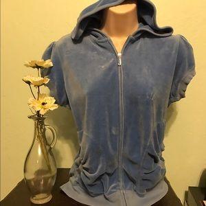 Juicy Couture Tops - Baby blue juicy hoody!