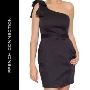 FRENCH CONNECTION BLACK BONNY DRESS