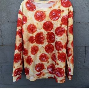 Shop Jeen Sweaters - Pizza sweater; 🍕