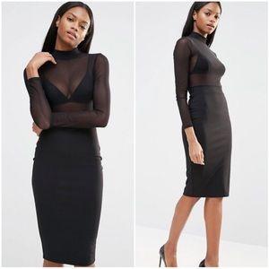 {missguided} mesh top pencil dress NWOT
